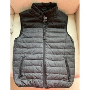 Men's Express black/gray vest size small